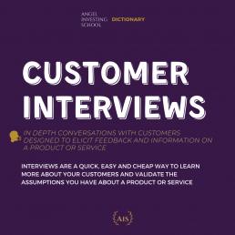 Customer Interviews Definition